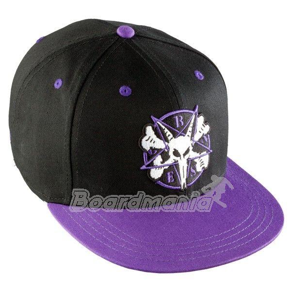 Kšiltovka Bones Pentagram black purple First Skateshop.cz 1755641a74