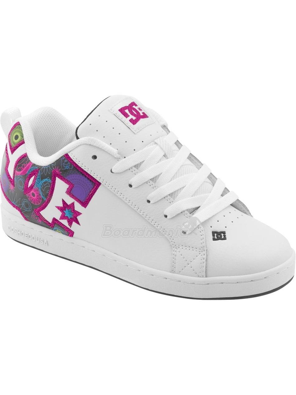 Boty DC Court Graffik Ladies SE black white print First Skateshop.cz 7f1daaf2fc