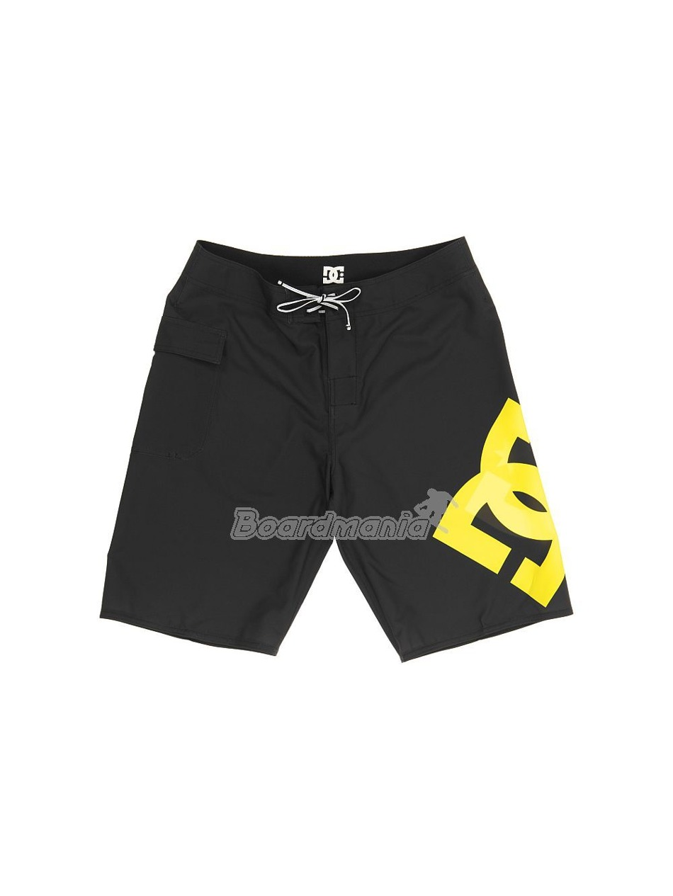 Pánské koupací šortky DC Lanai black yellow First Skateshop.cz a199b14be9