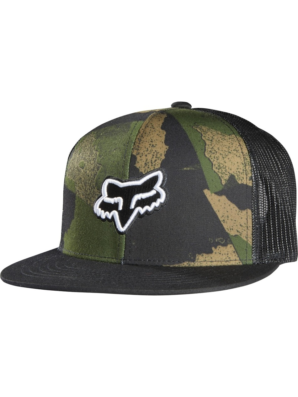 a3c61feb159 Kšiltovka Fox Carnage Camo Snapback Hat black First Skateshop.cz