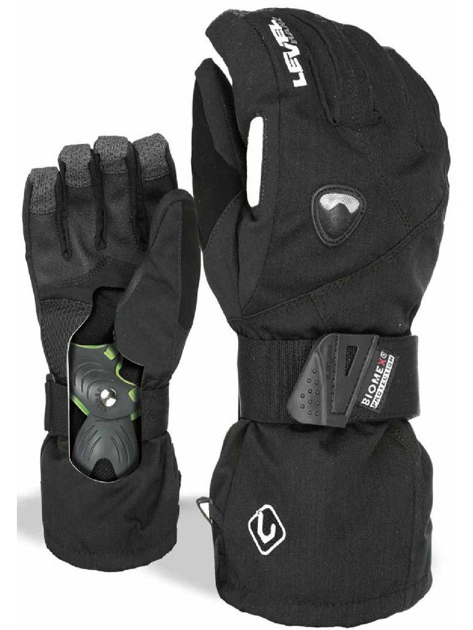 Dětské rukavice Level Fly black First Skateshop.cz c250fd30c1