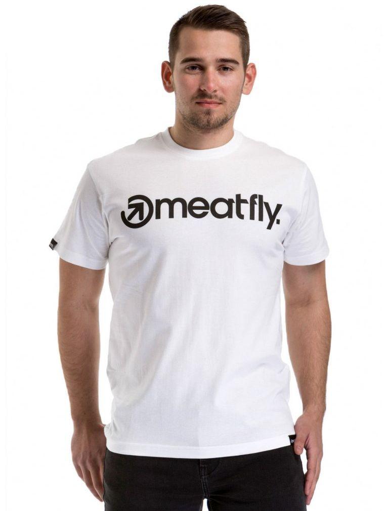e6fc5ba7ca9 Tričko Meatfly Logo white First Skateshop.cz
